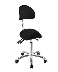 Ergo - Sadelsete stol m / rygg Sort