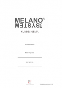 Melanoout kundeskjema