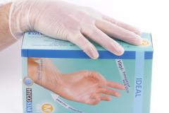 Transparante vinyl hanske